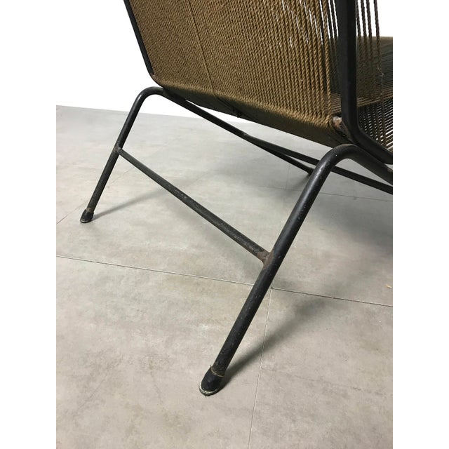 Allan Gould String Lounge Chair & Ottoman 1952 For Sale - Image 9 of 11