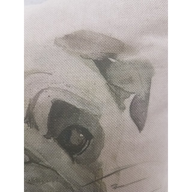 Textile Pug Pillow - Made in Wales, United Kingdom For Sale - Image 7 of 9