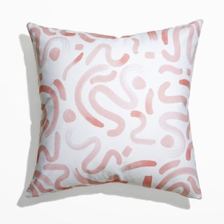Pepper Hockney in Pink Pillow For Sale