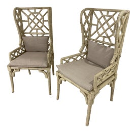 Image of Chippendale Wingback Chairs