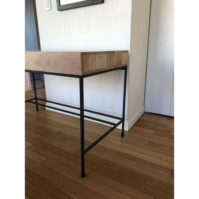 Metal West Elm Industrial Storage Desk For Sale - Image 7 of 9