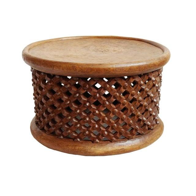 2010s Bamileke Wood Stool Table For Sale - Image 5 of 5