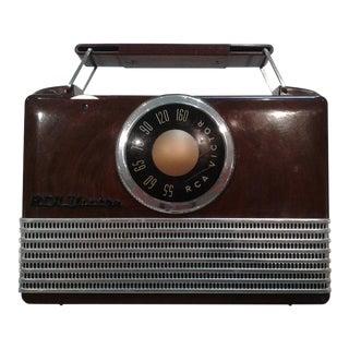 1950 Vintage Mid Century Rca Victor Portable Bakelite Radio For Sale