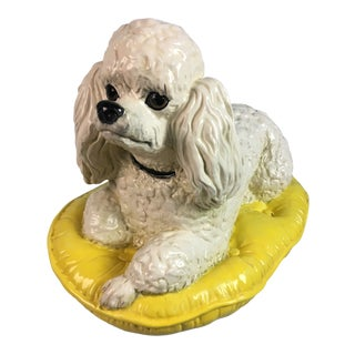 Regency Style Poodle on Pillow Figurine For Sale