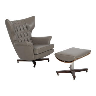 G Plan Lounge Model 6250 Blofeld Chair and Ottoman For Sale