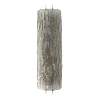Smoky Gray Murano Glass Curved Sconces by Mazzega - 3 Available For Sale