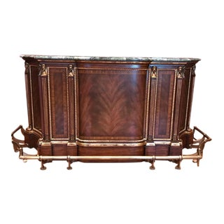 Maitland-Smith Finished Mahogany Bar