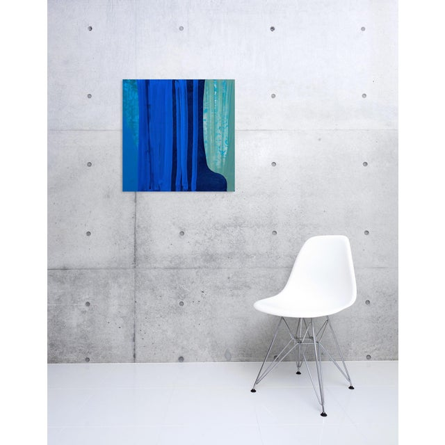 Acrylic paint on linen Edition: Unique, Unframed. The textured appearance of her paintings emanates from the intervention...