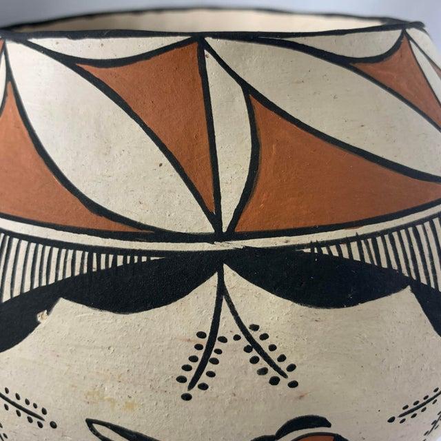 Orange Southwestern Polychrome Parrot Jar For Sale - Image 8 of 13