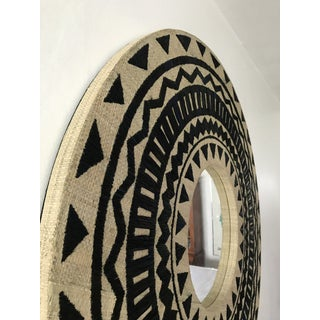 Tribal Chic Round Grasscloth Mirror Preview