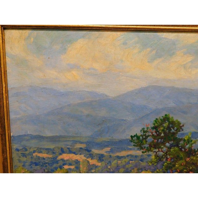 """Edward Walker Oil Painting on Canvas """"Mt. Moosalamoo, Green Mountains North of Brandon"""" For Sale In Philadelphia - Image 6 of 13"""