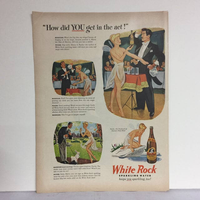 Wonderful ad for White Rock Sparkling Water featuring Psyche, the winged sprite who gets in the magician's act. Great...