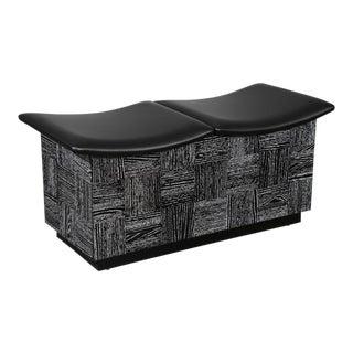 Cerused Oak Storage Bench For Sale