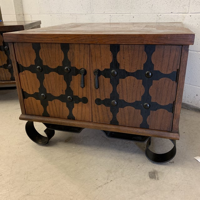 Lane Mid Century Spanish Style End Tables For Sale - Image 9 of 13