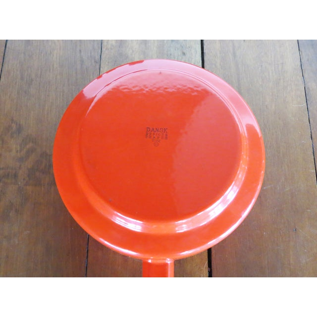 Dansk Kobenstyle Red Enamel Fondue Pot For Sale - Image 9 of 11