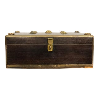 20th Century Regency Rosewood Decorative Box Bound With Brass For Sale
