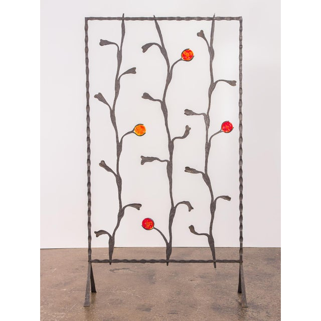Decorative Mid-Century Modern Artisan Iron Screen For Sale - Image 9 of 9
