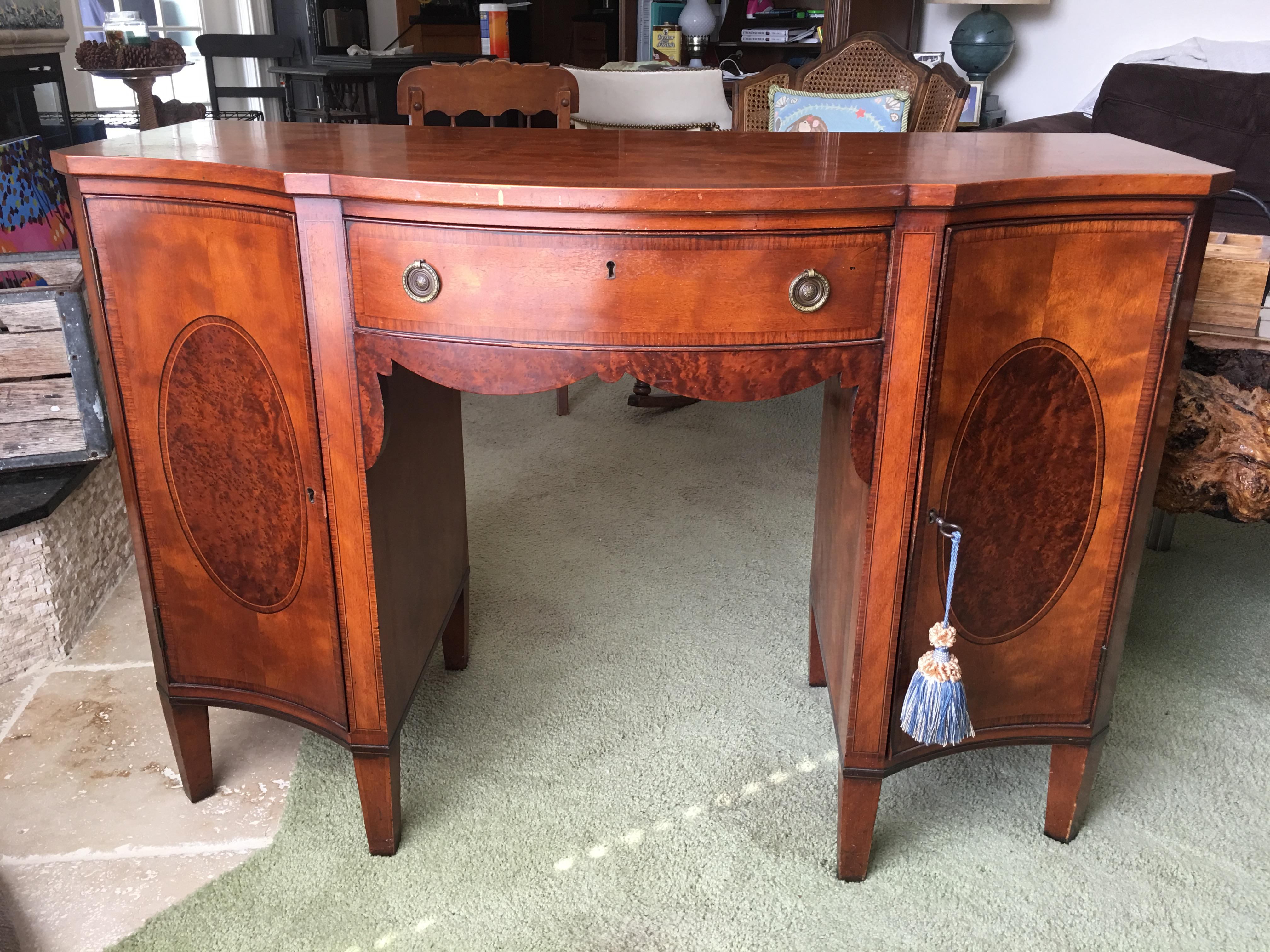 Beautiful Antique Royal Furniture Desk By Robert W. Irwin Co. Desk Has A  Large