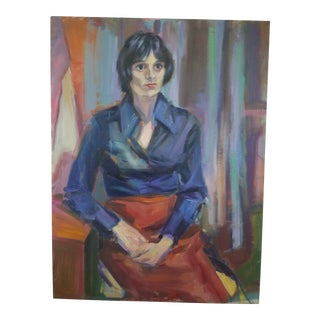 Barbara Yeterian Female Portrait Painting For Sale