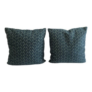 Ashley Hicks Groundworks Chengtudoor Embroidered Pillows With Down Inserts - a Pair For Sale