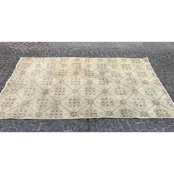 Islamic Handwoven Vintage Area Rug - 5′6″ × 9′1″ For Sale - Image 3 of 6