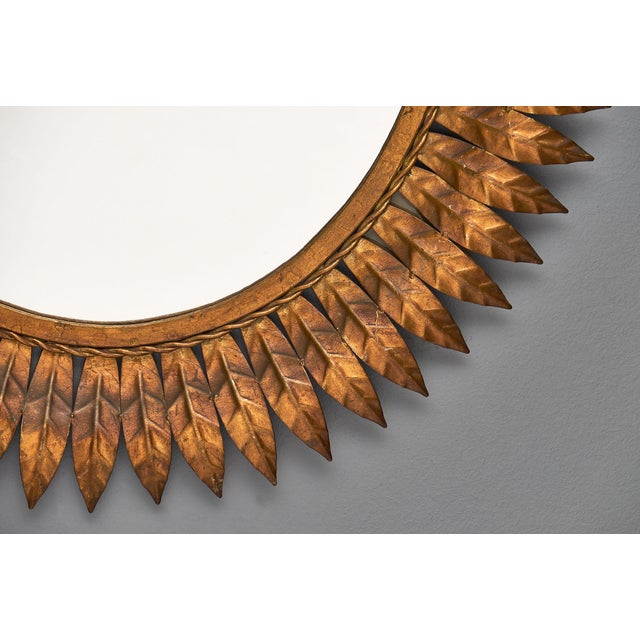Spanish Tole Sunburst Mirror For Sale - Image 10 of 11