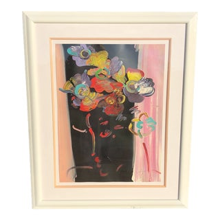 1990's Vintage Profile Serigraph Print by Peter Max Roseville For Sale