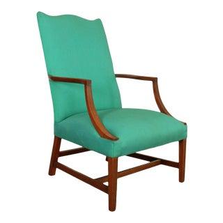 Century Hepplewhite Style Vintage Mahogany Martha Washington Lolling Armchair For Sale