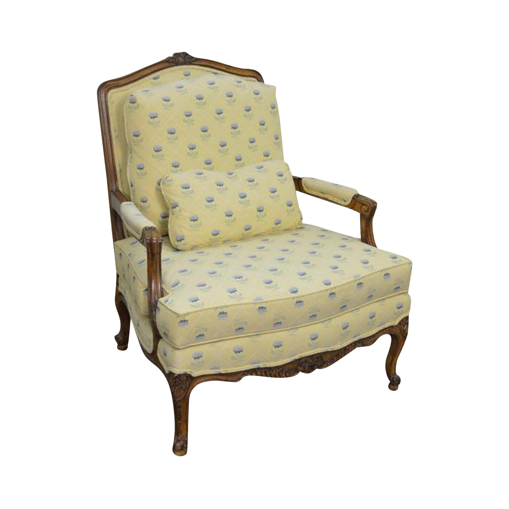 Sherrill French Louis XV Style Fauteuil Lounge Chair