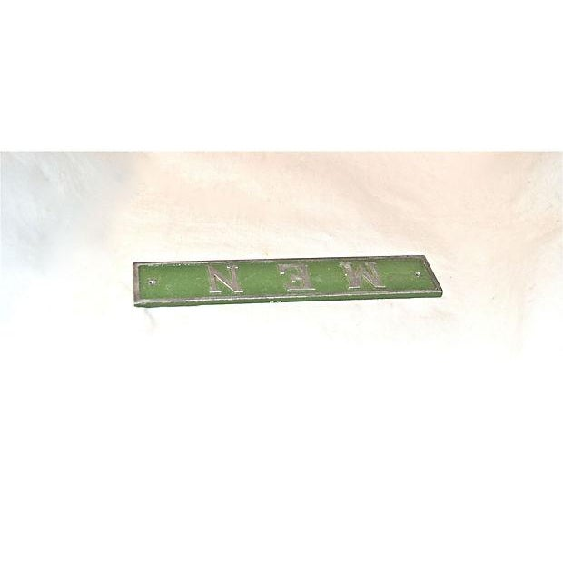 Vintage Green & Silver Men Door Plaque - Image 5 of 8