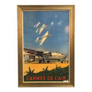 Antique French l'Armee De l'Air Poster For Sale