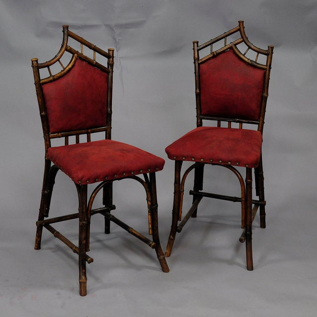 Early 20th Century An Asian Inspired Set Of Bamboo Furniture Ca. 1930ties For Sale - Image 5 of 13
