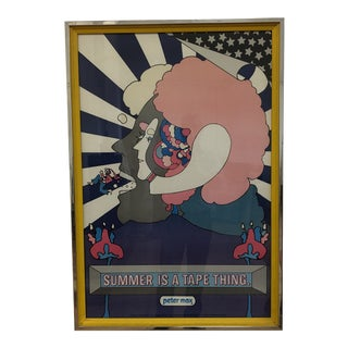 "Peter Max Custom Framed ""Summer Is a Tape Thing"" Print For Sale"