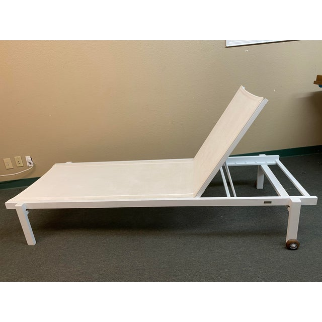Mamagreen Allux White Outdoor Lounger For Sale - Image 10 of 13