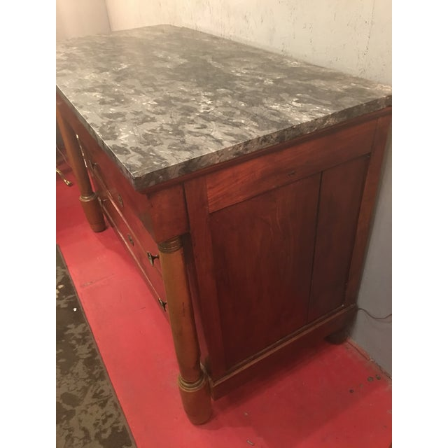 French Empire Solid Mahogany Four Drawer Chest For Sale - Image 9 of 13