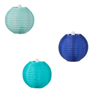 Glow Outdoor Solar String Lights in Watery Blues For Sale