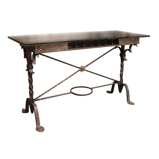 1920s Traditional Samuel Yellin Wrought Iron Bank Table For Sale - Image 12 of 12