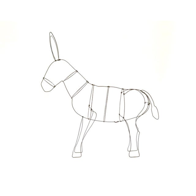 Wire Donkey Sculpture - Image 1 of 5