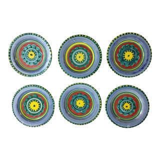 Mid-Century DeSimone Plates - Set of 6 For Sale