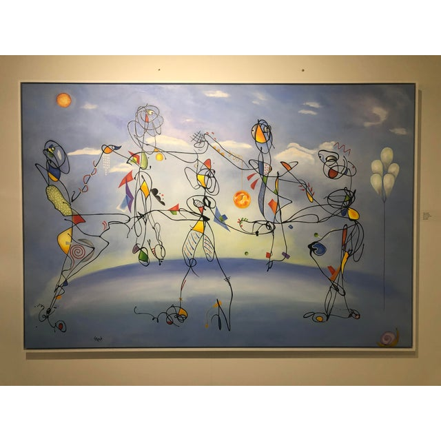 """2010s """"Ode to Joy"""" Oil Painting on Canvas For Sale - Image 5 of 8"""