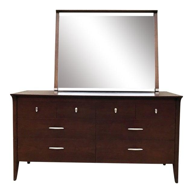 John Van Koert for Drexel Profile Walnut Dresser For Sale