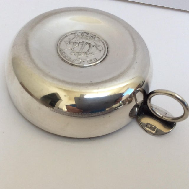 Traditional Silver Wine Taster With Antique Silver Coin For Sale - Image 3 of 9
