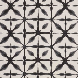 Schumacher Andromeda Wallpaper in Charcoal , Sample For Sale