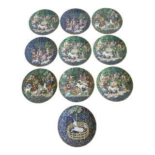 10 Limoges La Chasse a La Licorne Plates For Sale