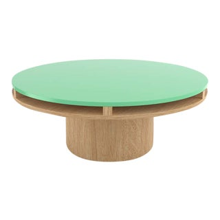 Contemporary 102 Coffee Table in Oak and Mint by Orphan Work, 2020 For Sale