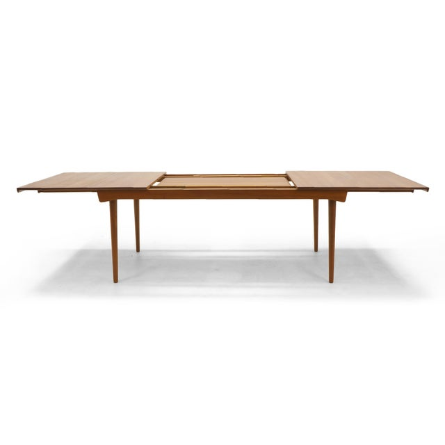 Finn Juhl Teak Dining Table, Expandable with Two Leaves, Exceptional Condition - Image 7 of 11
