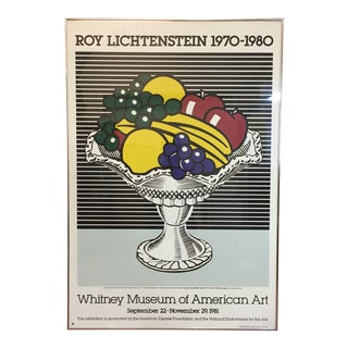 "1980 Roy Lichtenstein ""Whitney Museum"" Authorized Silk Screen Poster For Sale"