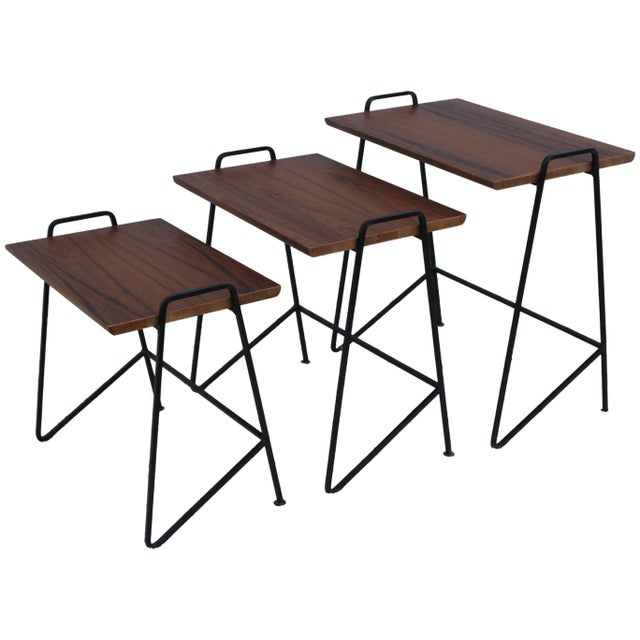 Tony Paul Modernist Nesting Tables For Sale - Image 11 of 11