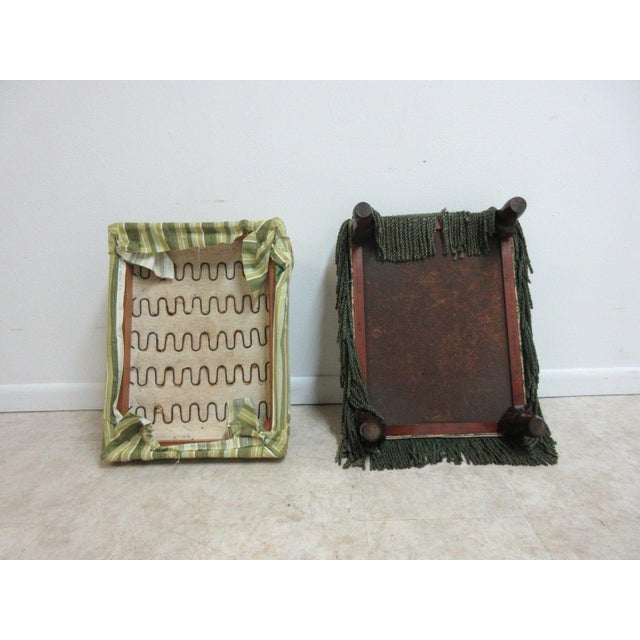 Antique Storage Footstool Ottoman For Sale - Image 9 of 11