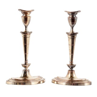 Early 19th Century English Sheffield Plate Candlesticks